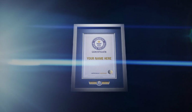 Guinness World Records Certificate