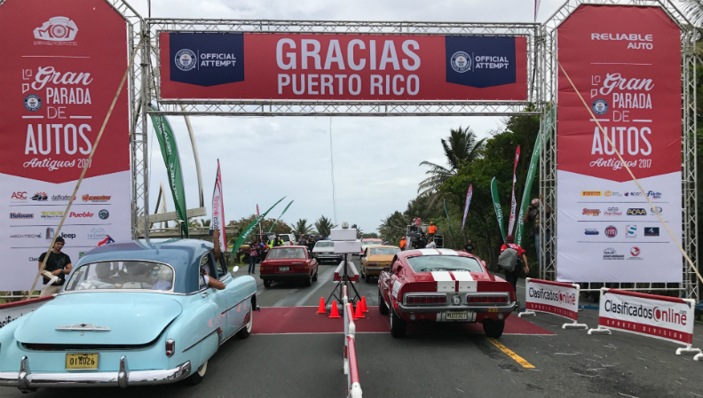 Largest parade of classic cars