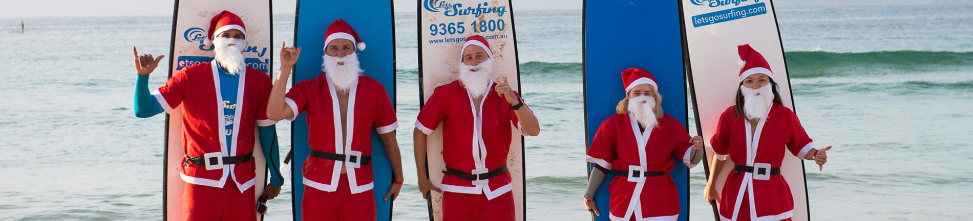 Santa's Surfing To Promote Corporate Charity Fundraising