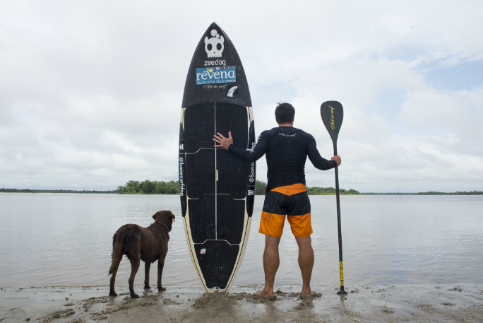 Longest Stand Up Paddleboard ride on a river bore by a human/dog pair 9